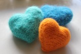 Yarn Along: Felted hearts