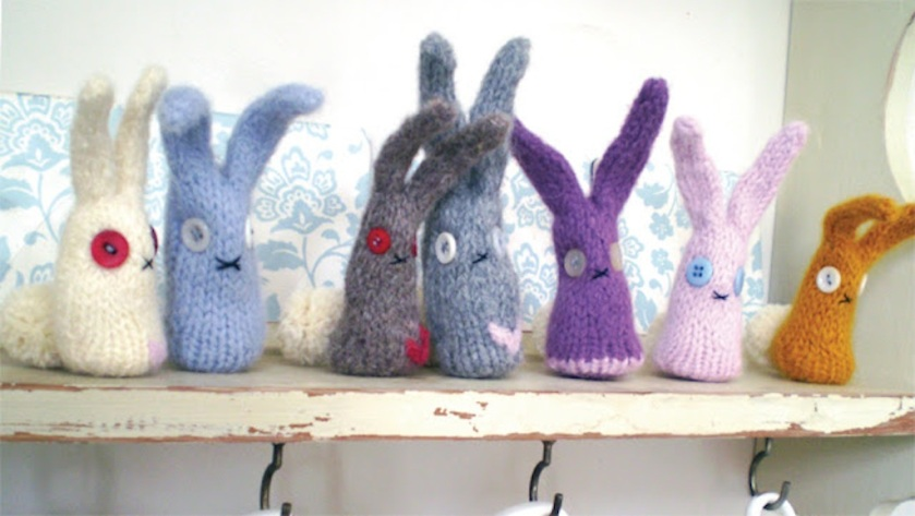 felted bunnies