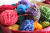 Yarn along:  Come on,Spring!