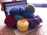 Yarn Along:  …with Evernote
