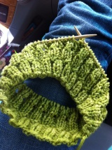Yarn Along:  Quick Knit Hat
