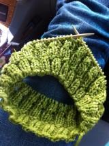 Yarn Along:  Quick KnitHat
