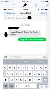My text from the Easter Bunny